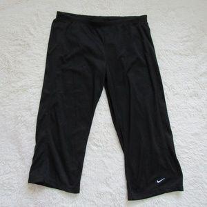 """Nike Black Dri Fit Capri Sport Pants 20"""" M"""